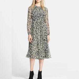 Burberry Brit Tabatha Print Mulberry Silk Dress